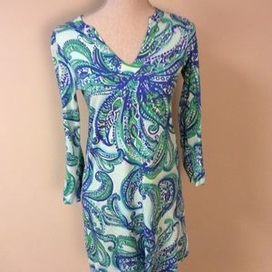 Lilly Pulitzer blue and green cotton dress